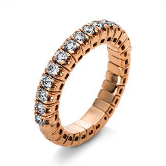 14 kt vörös arany félig köves eternity 15 gyémánttal 1J211R454-1