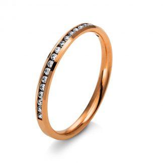 14 kt vörös arany félig köves eternity 20 gyémánttal 1N963R453-1