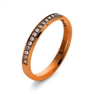 14 kt vörös arany félig köves eternity 20 gyémánttal 1Q991R453-1