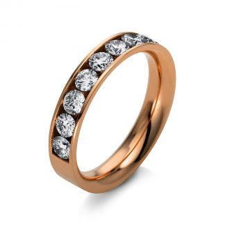 14 kt vörös arany félig köves eternity 9 gyémánttal 1N966R453-3