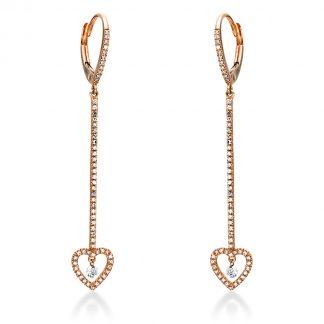 14 kt vörös arany fülbevaló 120 gyémánttal 2I935R4-1