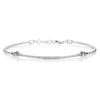14 kt white gold bracelet with 43 diamonds 5A234W4-4