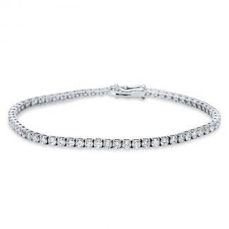 14 kt white gold bracelet with 66 diamonds 5C024W4-1