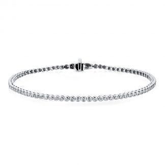 14 kt white gold bracelet with 84 diamonds 5A227W4-4