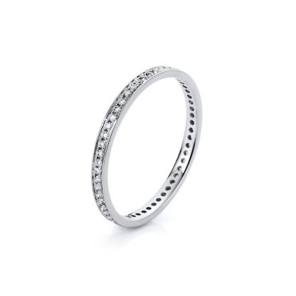 14 kt white gold eternity full with 57 diamonds 1A427W456-1