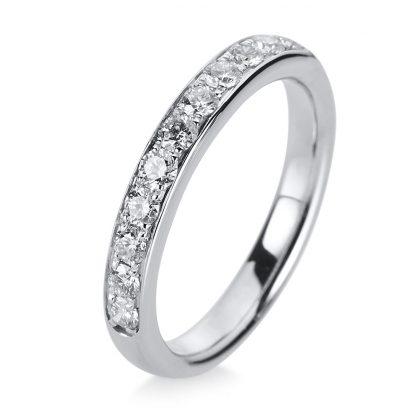 14 kt white gold eternity half with 11 diamonds 1A468W454-1