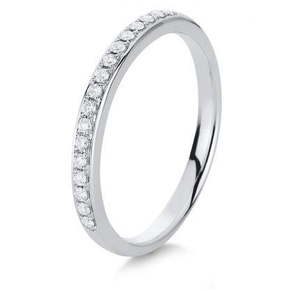 14 kt white gold eternity half with 17 diamonds 1A460W456-1