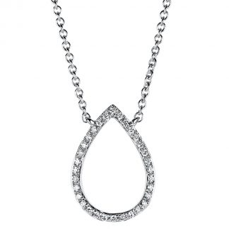 14 kt white gold necklace with 32 diamonds 4A400W4-1
