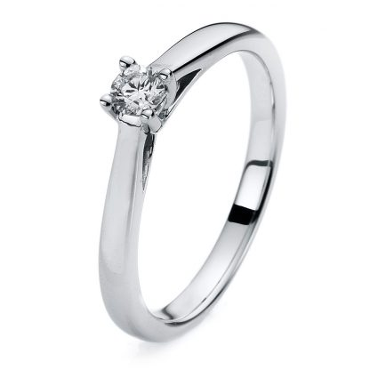 14 kt white gold solitaire with 1 diamond 1A110W453-1