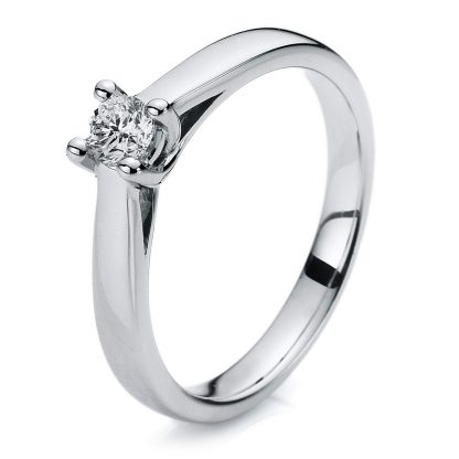 14 kt white gold solitaire with 1 diamond 1A115W454-1