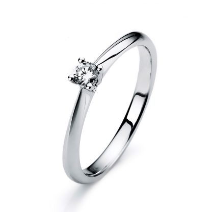 14 kt white gold solitaire with 1 diamond 1A121W454-1