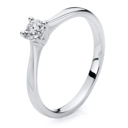 14 kt white gold solitaire with 1 diamond 1A204W454-1