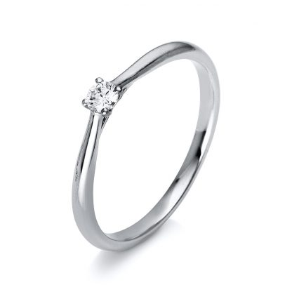 14 kt white gold solitaire with 1 diamond 1A287W456-1