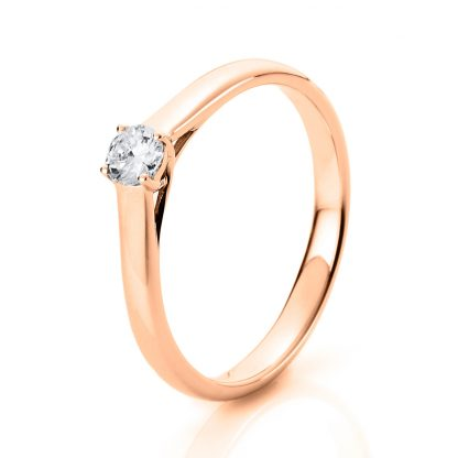 14 kt white gold solitaire with 1 diamond 1A441W452-8