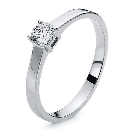 14 kt white gold solitaire with 1 diamond 1A640W455-1
