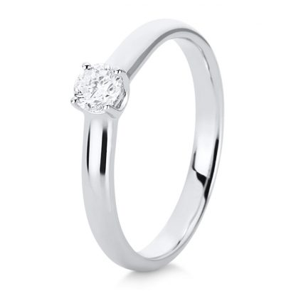 14 kt white gold solitaire with 1 diamond 1C506W454-1