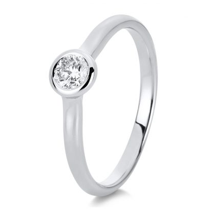 14 kt white gold solitaire with 1 diamond 1C518W454-1