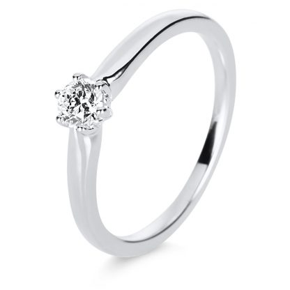14 kt white gold solitaire with 1 diamond 1E190W454-2