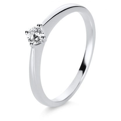 14 kt white gold solitaire with 1 diamond 1E206W456-2