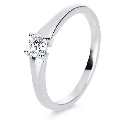 14 kt white gold solitaire with 1 diamond 1E218W454-1