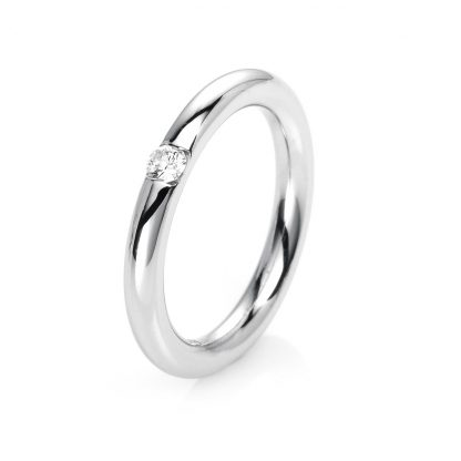 14 kt white gold solitaire with 1 diamond 1E479W455-1