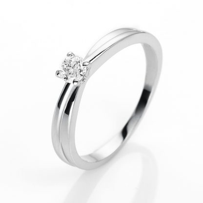 14 kt white gold solitaire with 1 diamond 1H235W453-1