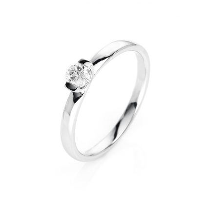 14 kt white gold solitaire with 1 diamond 1J088W454-1