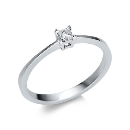 14 kt white gold solitaire with 1 diamond 1U596W452-1