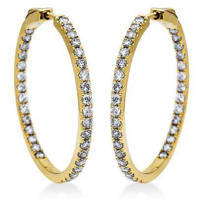 14 kt yellow gold hoops & huggies with 66 diamonds 2I863G4-1