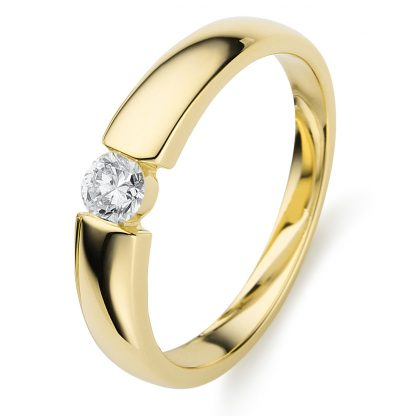 14 kt yellow gold solitaire with 1 diamond 1A356G454-2