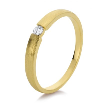 14 kt yellow gold solitaire with 1 diamond 1D876G456-4