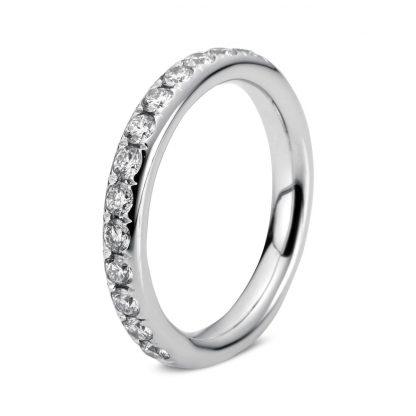 18 kt fehérarany félig köves eternity 17 gyémánttal 1C380W853-1