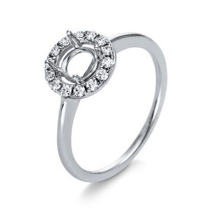18 kt fehérarany foglalat 14 gyémánttal 1K395W854-1