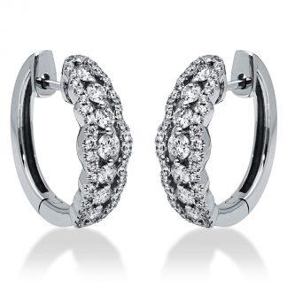 18 kt fehérarany fülbevaló 102 gyémánttal 2I202W8-1