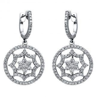 18 kt fehérarany fülbevaló 1588 gyémánttal 2I374W8-1