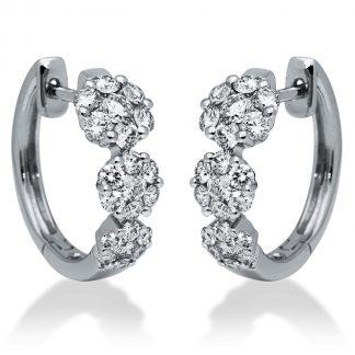 18 kt fehérarany fülbevaló 42 gyémánttal 2I199W8-1