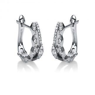 18 kt fehérarany fülbevaló 54 gyémánttal 2G600W8-1