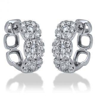 18 kt fehérarany fülbevaló 54 gyémánttal 2I197W8-1