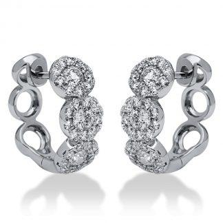 18 kt fehérarany fülbevaló 60 gyémánttal 2I196W8-1