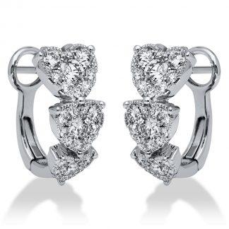 18 kt fehérarany fülbevaló 60 gyémánttal 2I198W8-1