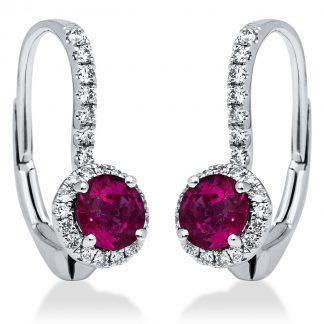 18 kt fehérarany fülbevaló 70 gyémánttal