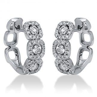 18 kt fehérarany fülbevaló 78 gyémánttal 2I194W8-1