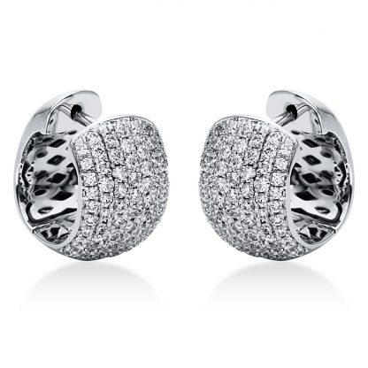 18 kt fehérarany karika és huggie 146 gyémánttal 2I970W8-2