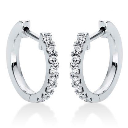 18 kt fehérarany karika és huggie 16 gyémánttal 2I986W8-1