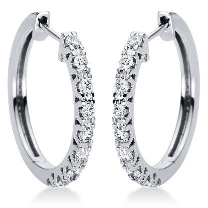 18 kt fehérarany karika és huggie 18 gyémánttal 2I974W8-5