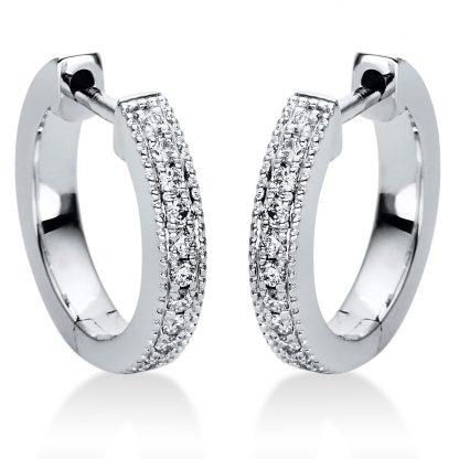 18 kt fehérarany karika és huggie 22 gyémánttal 2I984W8-1