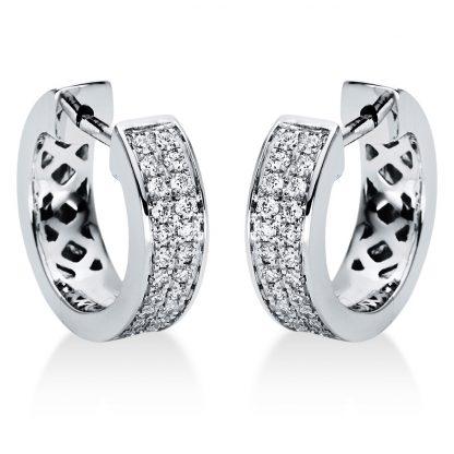 18 kt fehérarany karika és huggie 48 gyémánttal 2I968W8-2