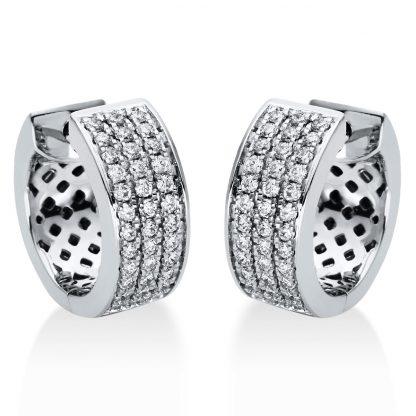 18 kt fehérarany karika és huggie 72 gyémánttal 2I966W8-3