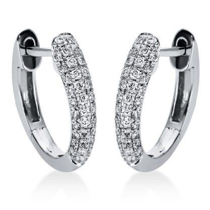 18 kt fehérarany karika és huggie 88 gyémánttal 2I981W8-1