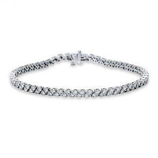 18 kt fehérarany karkötő 110 gyémánttal 5B913W8-1